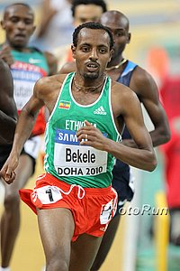 Bekele, shown here at World indoors in 2010, hasn't been on the track