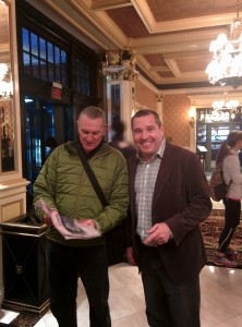 Martk Wetmore with agnet Mark Wetmore in Boston this year