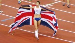 Great Britain's Jo Pavey celebrates after winning the 10,000m title at the 2014 European Championships in Zürich (photo by Jane Monti for Race Results Weekly)