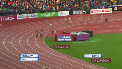 Hassan and Aregawi were clear of the field with 100 to go