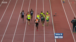 Do Not Adjust Your Picture: David Rudisha In the Back 270 Meters into the Race