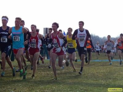 Jason Crist (left) and Evan Esselink (middle) finished within two seconds of each other at NCAAs last year