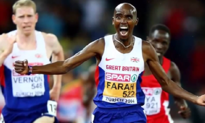 Farah's last 10,000: gold at Euros last summer