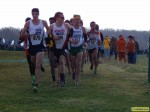 Tiernan (far left) leading the chase pack at NCAAs in 2013
