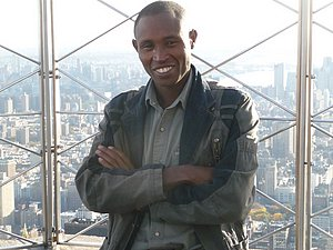 Mutai ended up on top of NY last year. *More Mutai Empire State Builting photos