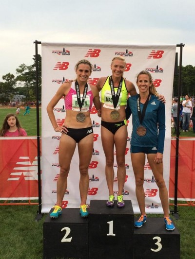 Your 2014 Falmouth Mile women's top three: Brown, Mackey and Uceny