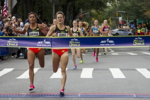 That's a New Balance 1-2. (Photo courtesy of NYRR)