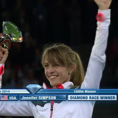 Anyone remember this? Simpson winning the Diamond League title in 2014