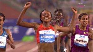 Cherono Celebrates Her $50,000