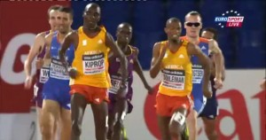 Souleiman And Kiprop on the Homestretch
