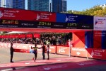 Eliud Kipchoge Wins (photo from ChicagoMarathon Twitter Feed)