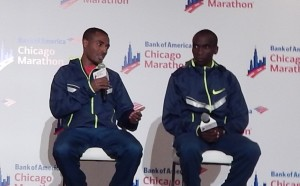 Kenenisa Bekele and Eliud Kipchoge