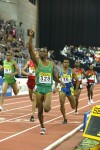 Mulaudzi winning world indoor gold in 2004