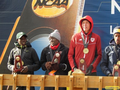 Cheserek (far left) and Korolev (second from right) went 1-3 at NCAAs last year