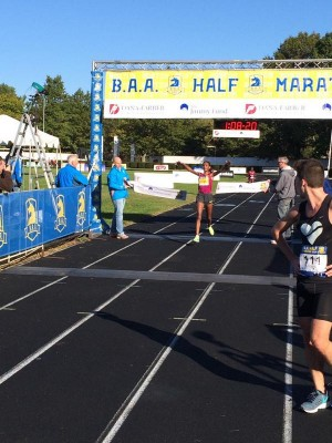 Mamitu Daska set a course record at the B.A.A. Half on Sunday