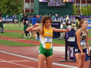 Rachel Johnson after taking third at NCAAs in the steeple this spring