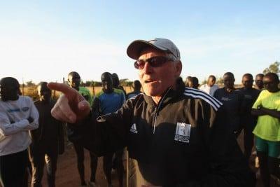 IAAF DIL Kenya 120204 Abel Kirui group with Renato Canova - Nangalini