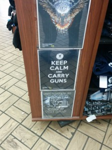 Keep calm and carry guns t shirt. Maybe we should make this 1st prize in our prediction contest.