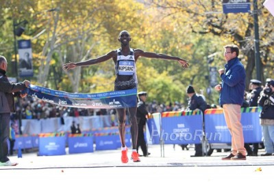 Wilson Kipsang Wins New York