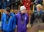 Fauble on the awards stand after finishing 13th in '13
