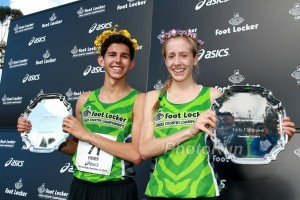 Grant Fisher and Anna Rohrer 2014 Foot Locker  Champions. (click for a photo gallery)