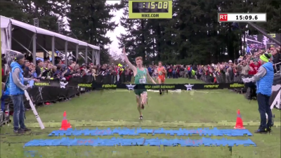 Anderson exulted as he crossed the finish line