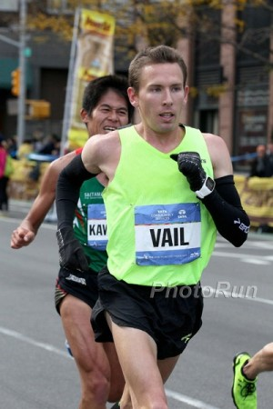 Vail en route to a 9th-place finish in NY in 2014