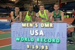 9:19.93 for Centrowitz, Berrky, Sowinsky and Case (l-r)