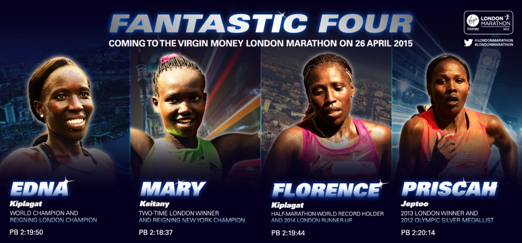 Edna Kiplagat, Mary Keitany, Florence Kiplagat and Priscah Jeptoo are the 'Fantastic Four'