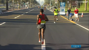 Bekele Falling off and with a slight limp