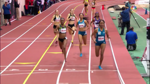 Ajee Wilson holds on for the win