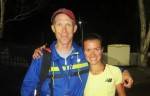 Conley with  Drew Wartenburg at the 2014 USATF Outdoor Championships. Photo by Chris Lotsbom/Race Results Weekly.