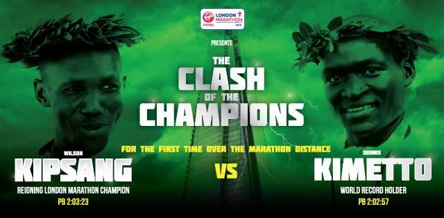 Kimetto vs Kipsang (Image via Virgin London Marathon)