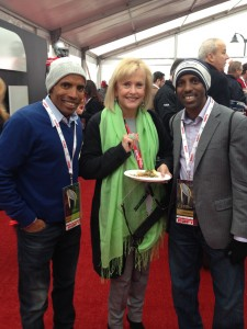 Meb (l) and Merhawi Keflezighi (r), with the Robert Johnson's Mom at the 2015 NCAA football title game between Ohio State and Oregon. Discuss this picture in our forum: https://www.letsrun.com/forum/flat_read.php?thread=6264777