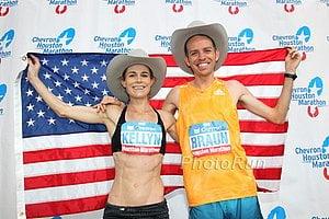 Top Americans Kellyn Taylor and Aaron Braun