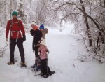 Snowshoeing has become a popular activity for the Houles this winter