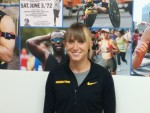 Shelby Houlihan before the 2015 NYRR Wanamaker Mile