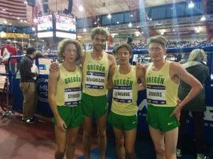 The Ducks: Parker Stinson, Will Geoghegan, Jake Leingang, Eric Jenkins