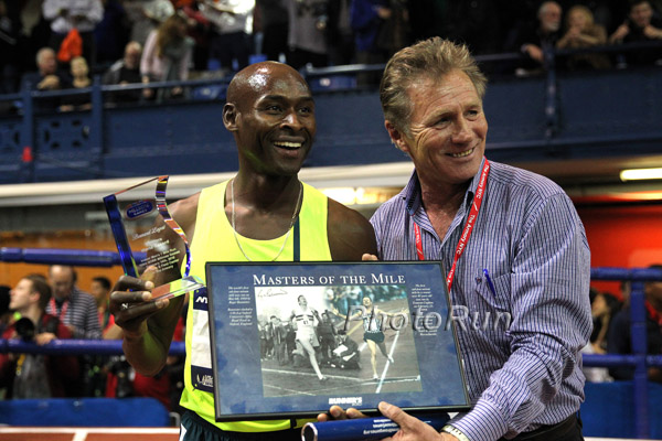 Lagat and Eamonn Coghlan after the Race