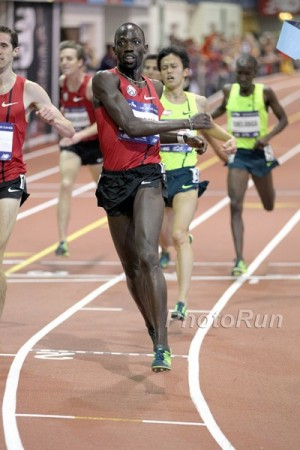 Lomong edged teammate Ryan Hill in a slow (yet thrilling) 5,000 at Millrose
