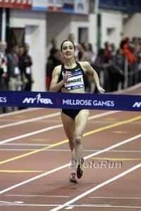 Shannon Rowbury looking Like a racewalker in the final strides