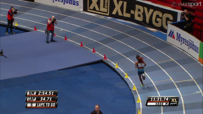 DIbaba was all alone for most of the race