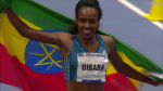 Dibaba broke her fourth indoor world record in just over a year