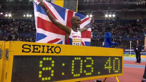 A World Record, but indoors and at 2-miles isn't blowing away Mr. Soprano
