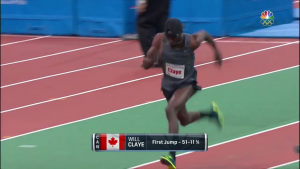 Memo to NBCSN, Will Claye is not Canadian.