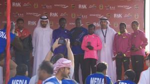 Men's and women's winners with RAK dignitaries
