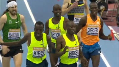 Birgen and Kibet battle for the win