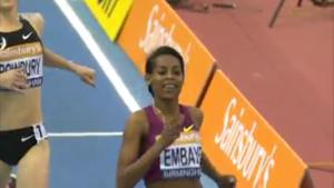 Axumawit Embaye celebrates