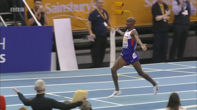 Farah set the world record at 2 miles indoors; how fast can he run for 3,000 on Friday?