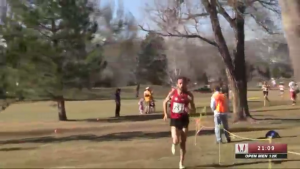 Chris Derrick All Alone on USATF.TV Screenshot